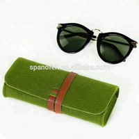 Alibaba Wholesale cheap felt sunglasses pouch soft eyeglass case