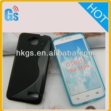 Tpu S Line Design case cover For Alcatel One Touch Idol Mini 6012 6012A 6012D