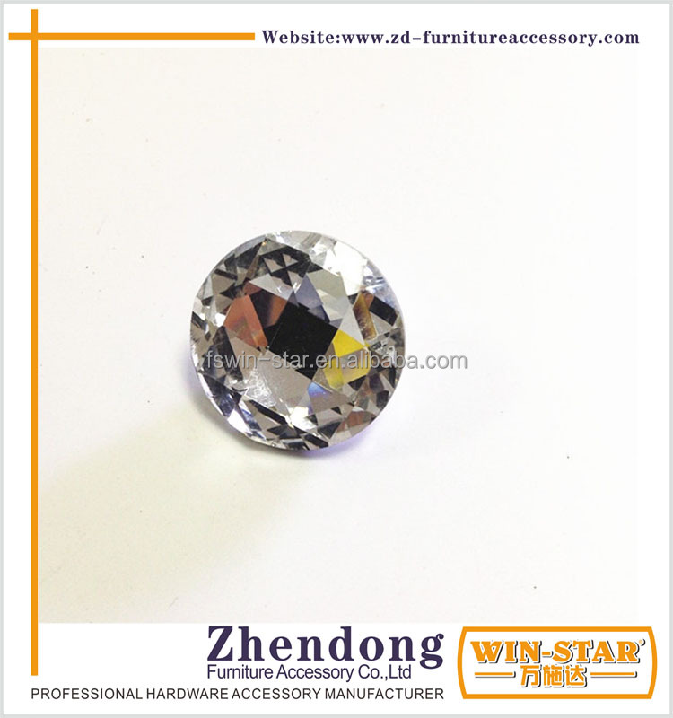 ZD-<strong>L023</strong> Superior Quality Crystal Round Button Tufted Sofa With Glue