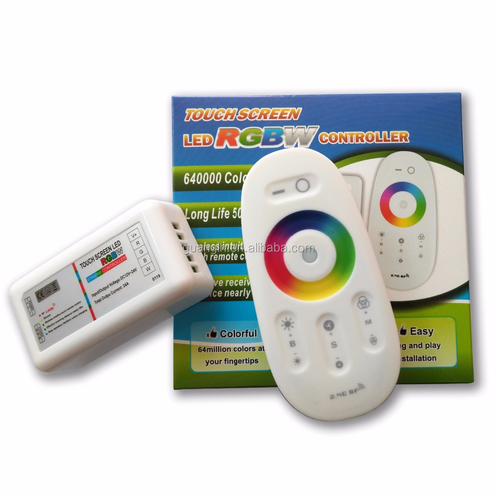 2.4g RF remote control touch RGBW led controller for 12-24V led strip light