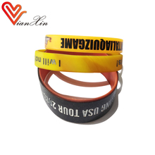 popular promotional bulk wrist band cheap debossed wristband customize silicone rubber bracelet china