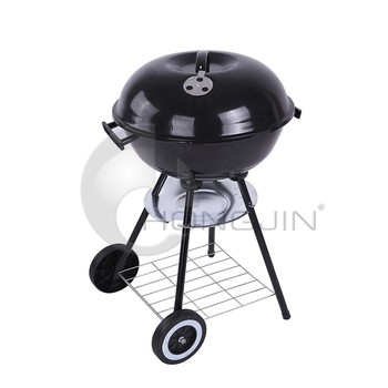 Hongjin Outdoor Camping Charcoal BBQ Grills with Wheels