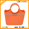Glamorous shiny color no-lining candy style silicone tote bag