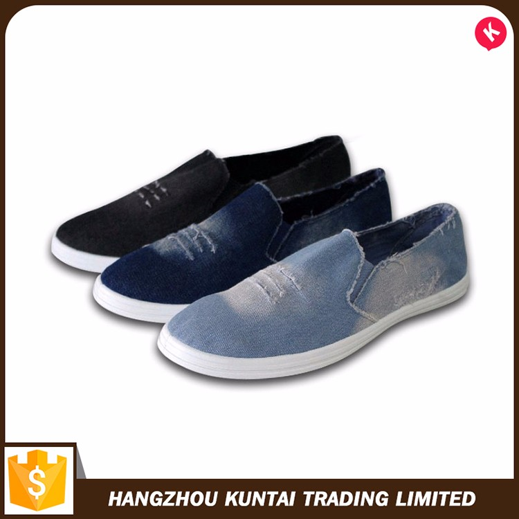 Special design widely used fancy casual men canvas shoes