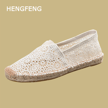 Fashion Espadrilles With Embroidery Flowers Folk Style