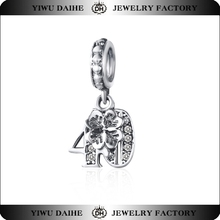 Daihe sterling silver crystal Number charm 40