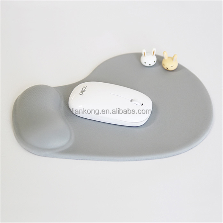 wholesale rubber made Promotional Gifts mouse pad soft PU fabric mouse pad with wrist band