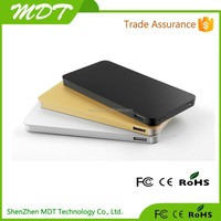 2015 Newest Dual output fast charging 5V 2A ultra thin Power Bank 10000mAh with Polymer lithium battery