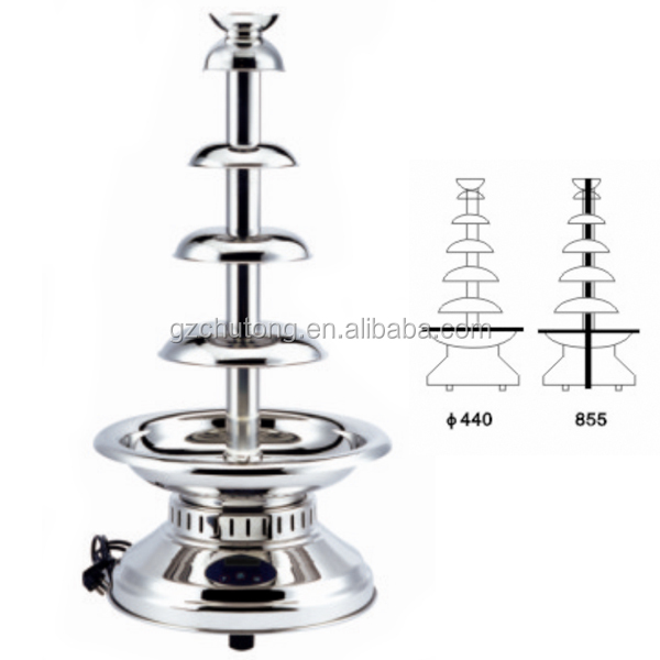 Chocolate Fountains/Commercial Stainless Steel 5 Tiers Party Chocolate Fountains