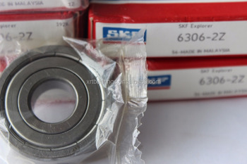 SKF 6306-2Z China made High Quality SKF 6306-ZZ Deep Groove ball bearing 30*72*19 mm