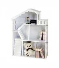 Popular Barbe House Wooden Bookcase Kids Magazine Book <strong>Shelf</strong>