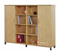 Wooden Office Furniture Mobile Filing Cabinet