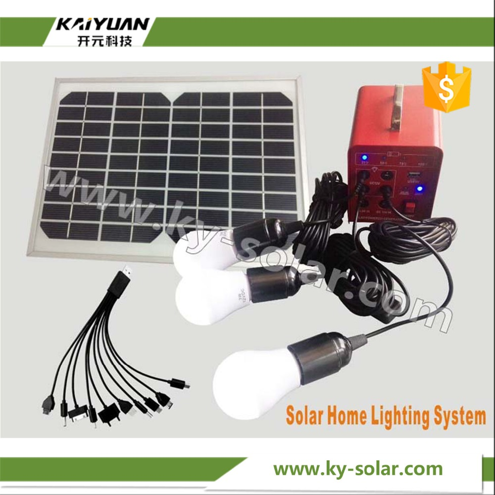 Good echo 10W home lighting solar power system home off-grid