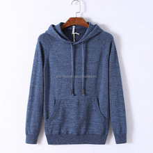 wholesale mens plain hooded pullover sweater with pockets