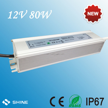 12V 80W waterproof ip67 LED power supply with 3 years warranty magnetic transformer for led from shenzhen factory