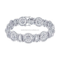 Partywear 11.65CT 18K white gold Diamond jewellers princess cut wedding sets black mens bracelet
