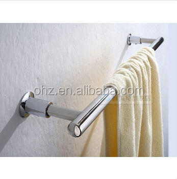 sanitary ware house or hotel stainless steel chrome polished single towel bar A1