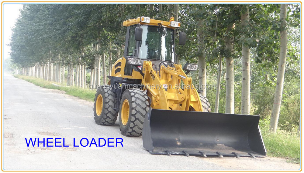 1.6ton articulated wheel loader with joystick control