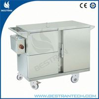 China BT-SFT003 hospital stainless steel electric food warmer trolley, electric food cart with wheels
