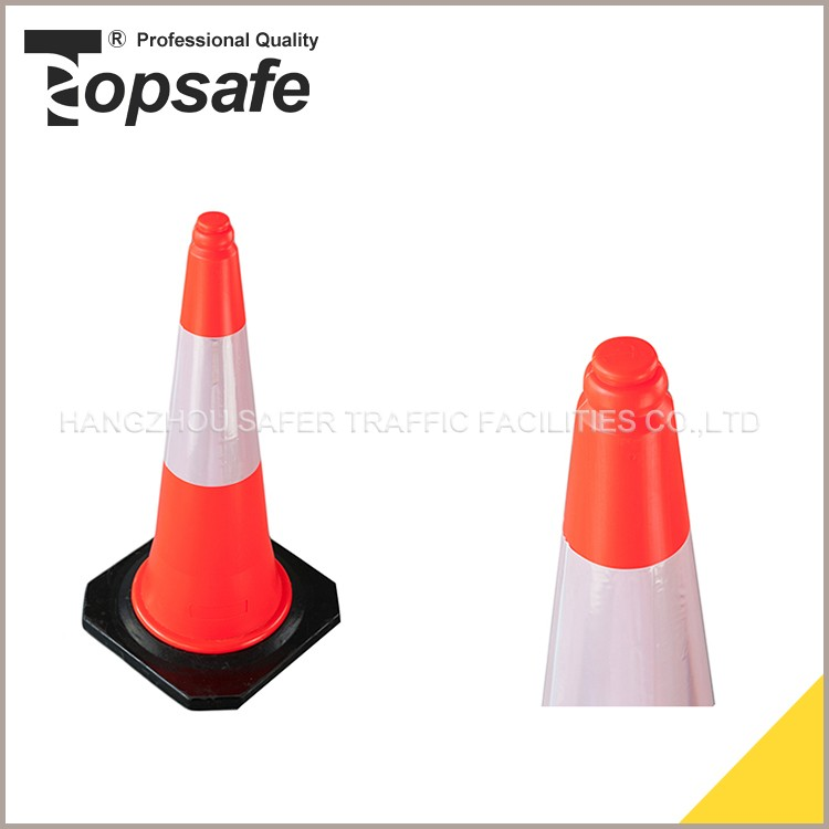 Eco-friendly reclaimed material led light road cones