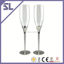 disposable transparent plastic champagne flute glass wedding thank you gifts for guests