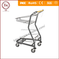 2016 Hot Sale High Quanlity Shopping 2 Basket Shopping Trolley