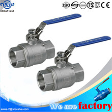 Two Pieces 1/2 inch ball valve /1/2'' male thread ball valve dn8 1/4 inch