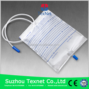 Medical Disposable Urine Bag With T-valve for Hospital Use