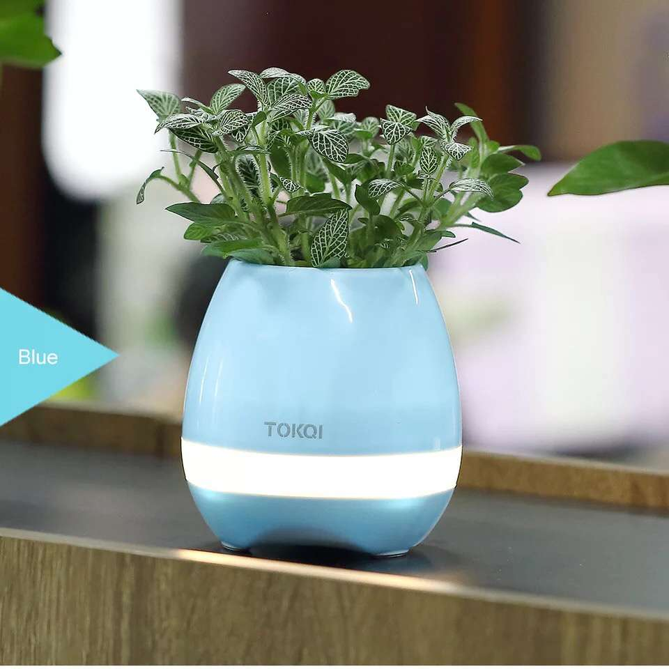 LED Light USB Charger Bluetooth Touch Music Plastic Flower Pot