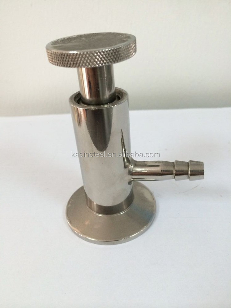 Clamped sampling valve