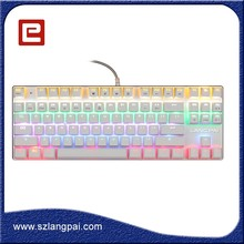 2016 Computer Accessories 87 Keys LED Backlit Gaming Mechanical Keyboard