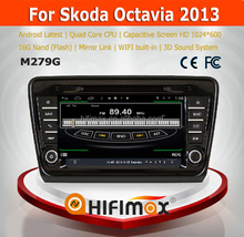 Hifimax S160 series android car dvd for Skoda Octavia 2013 4.4.4 HD 1024*600 with 4 Core CPU