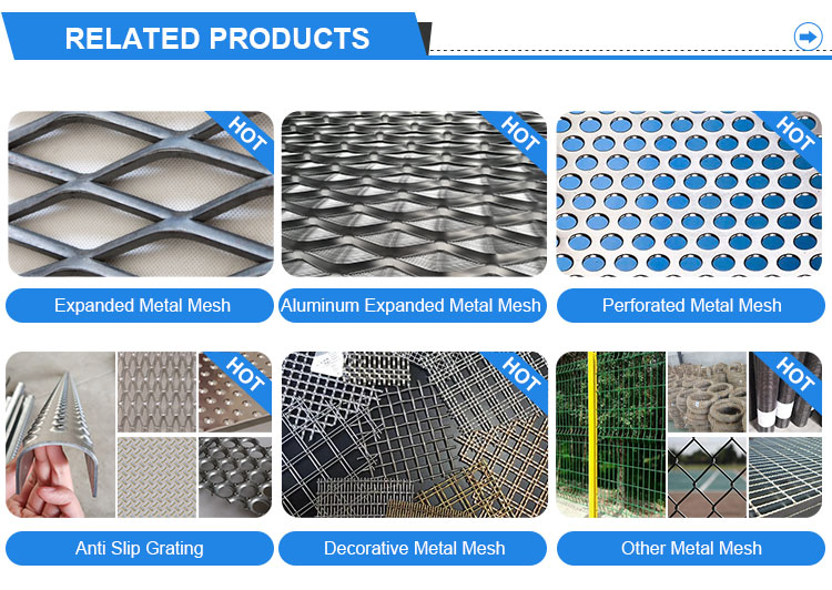 Alu 3003 Diamond Shape Stretched Expanded Metal Mesh