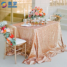 Rose Gold Sequin panels Party Baby Shower glitter table cloth factory wedding sequin table cloth wedding table linens