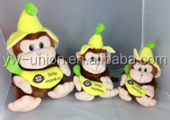 Cute colorful soft monkey toy China factory new design for kids