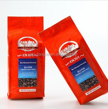 Printed Vaccum Barrier aluminum foil gusset plastic coffee bag with ziplock