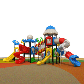 2017 Top Quality Ocean Series Children Used Playground Equipment, Child Safety plastic slides for Sale.