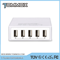 5-Ports 40W USB Charger, Smart Power Desktop USB Charger Adapter for cellphone