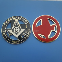 New Masonic Master Mason Cut out Car Auto Emblem Gold and Black