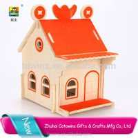 Hobbycraft custom woodcraft model diy corporate gifts items giveaway wooden puzzle toys doll house