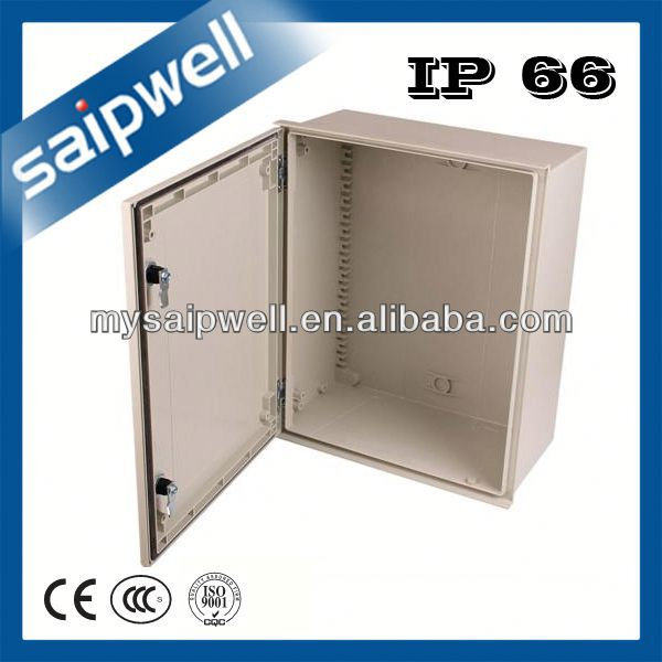 FIBER REINFORCED POLYESTER WITH GLASS METER GREY COVER BOX