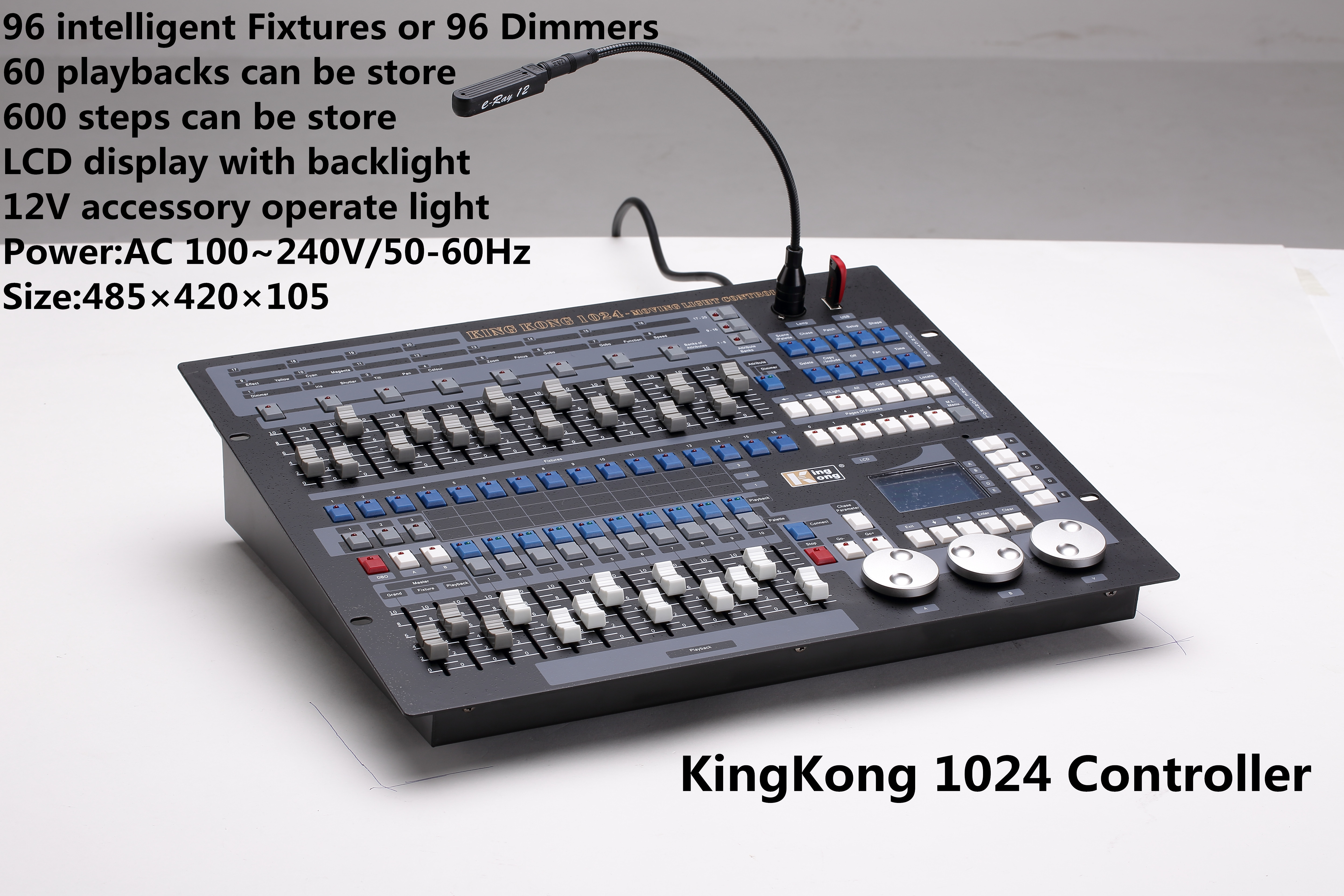 Kingkong Controller 1024 fire machine dmx from Mingjing Light Equipment