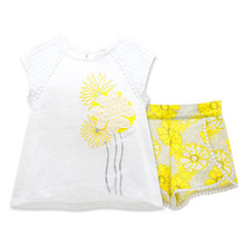 2017 Wholesale summer baby clothing set tiny child models baby kids tshirts