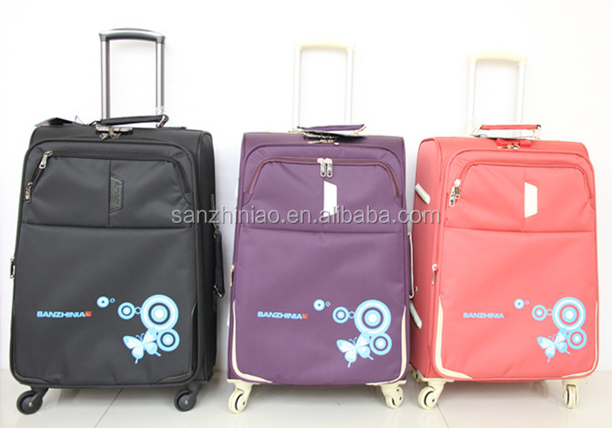 3piece elegant trolley luggage set, beautiful designer unique luggage sets, cheap luggage set for sale china supplier