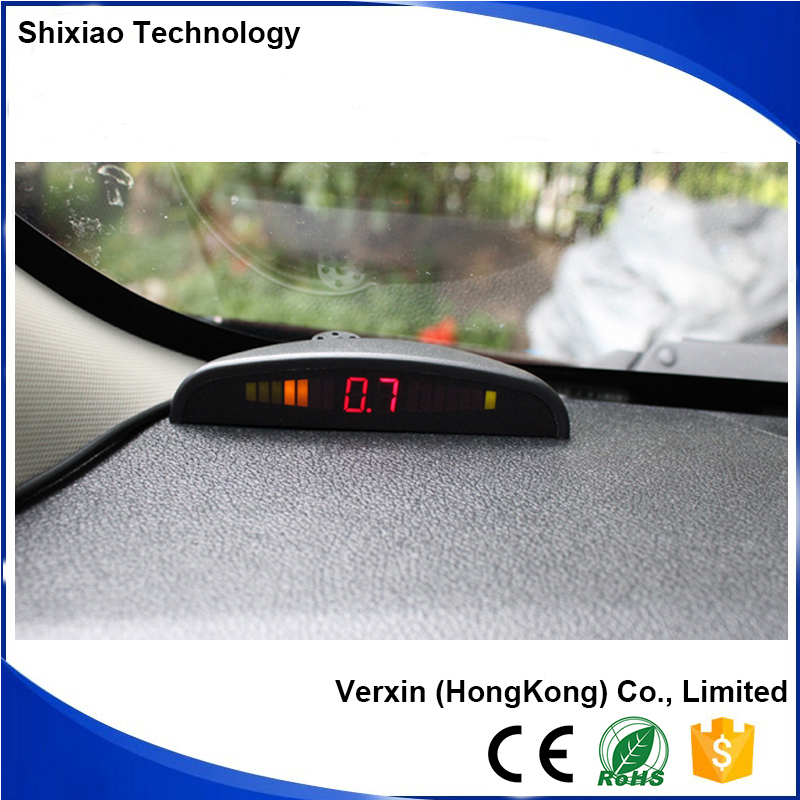 4 Ultrasonic Sensors LED Display Distance Alarm Car Radar Detector for Reversing System