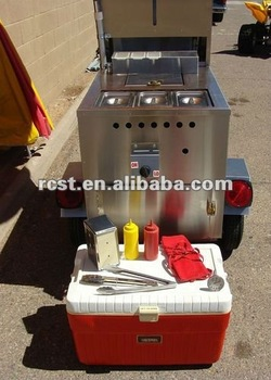 stainless steel hot dog catering cart