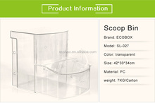 Custom Clear Stackable Acrylic Candy Storage Box Bin Dry Food Dispenser