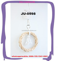 Bird Toy Rattan Woven Swing Hang Ring for Cockatiels Swing Parrot JU-0598