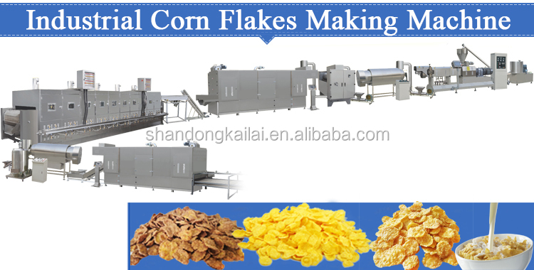 China Factory Price Corn Flakes Making Machine Breakfast Cereal Machine