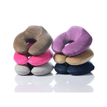 Manufacturers direct sales U shaped custom cheap memory foam travel pillow neck